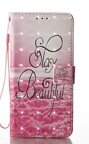 For Samsung Galaxy S8 Plus S8 Case Cover Beautiful Letters Pattern Glare 3D Dimensional Glossy PU Material Stent Card Holster S7 S6 (Edge) S7 S6 S5