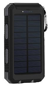 8000mAh전원 은행 외부 배터리 태양열 충전 멀티 출력 플래쉬 라이트 8000 2000 태양열 충전 멀티 출력 플래쉬 라이트