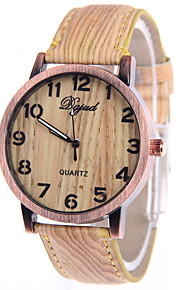 Mulheres Relógio de Moda Quartzo Couro Banda Casual Marrom Marron Café