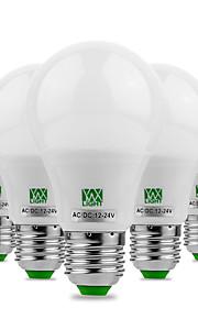 5W E26/E27 LED-globepærer 10 SMD 5730 400-500 lm Varm hvit Kjølig hvit Dekorativ AC 12 V 5 stk.