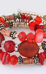 Dame Strand Armbånd Mode Boheme Stil Muslingeskal Legering Geometrisk form Orange Mørkeblå Rød Lys pink Lyseblå Smykker For Fest 1 Stk.