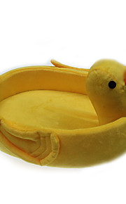 lit chien chat animal de compagnie style canard jaune