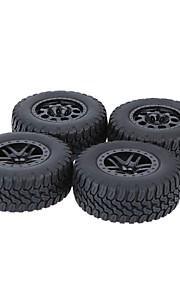 Geral RC Tires Pneu RC Carros / Buggy / Caminhões Preto Borracha pet Plástico 4PCS