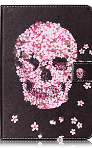 For Card Holder Wallet with Stand Flip Pattern Case Full Body Case Skull Hard PU Leather for Apple iPad Mini 4 iPad Mini 3/2/1