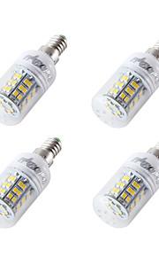 4W E14 E27 E26 LED-kornpærer T 48 SMD 2835 350 lm Kjølig hvit V 4 stk.