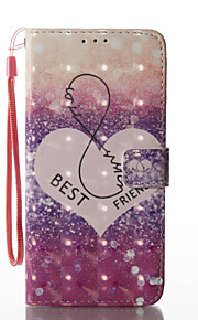 For Samsung Galaxy S8 Plus S8 Case Cover Love Pattern Glare 3D Dimensional Glossy PU Material Stent Card Holster S7 S6 (Edge) S7 S6 S5