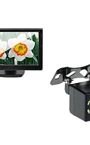 5 bil TFT LCD-skærm og bil bagfra backup 8led nattesyn kamera