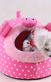 lit chat chien lit animal mignon de bande dessinée rose rouge vert