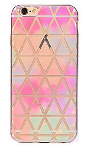För Genomskinlig Mönster fodral Skal fodral Geometriska mönster Mjukt TPU för AppleiPhone 7 Plus iPhone 7 iPhone 6s Plus iPhone 6 Plus