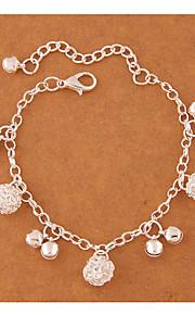 Dame Charm-armbånd Mode Legering Rund form Sølv Smykker For Fest 1 Stk.
