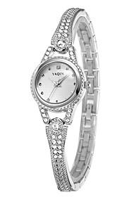 Mulheres Relógio de Moda Quartzo Lega Banda Prata Preto Prata Ouro Rose