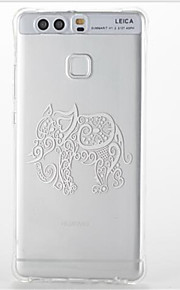 For Huawei P9/P9 Lite Shockproof Transparent Pattern Case Back Cover Case Elephant Soft TPU Huawei P8 Lite