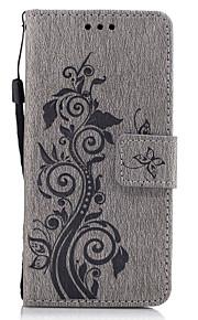 Til Lommebok Kortholder med stativ Flipp Inngravert Mønster Etui Heldekkende Etui Blomst Hard PU-lær til SonySony Xperia X Sony Xperia XA