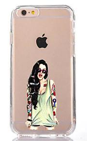 Pour iphone 7 sexy lady tpu doux ultra-mince housse de couverture arrière pour Apple iphone 7 plus 6s 6 plus se 5s 5 5c 4s 4