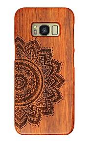 Per la galassia samsung s8 s8 più totem fiore fortunato in legno che intaglia la copertura posteriore della protezione samsung caso s6