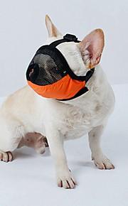 강아지 muzzles 여행 도구 미용 용품 액세서리 m 조정 가능한 스트랩 줄 지어 terylene brethable 메쉬 애완 동물 muzzles anti-bite 총구