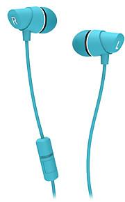 Ovann hörlurar för mobiltelefon 3,5 mm in-ear ansluten med volymkontroll för mikrofon