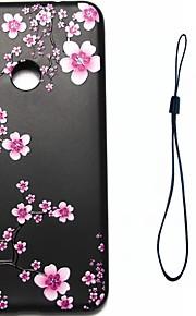 화 웨이 p8 라이트 (2017) p10 케이스 커버 매화 꽃 패턴 연료 분사 릴리프 버튼 두꺼운 tpu 소재 전화 케이스 p10 라이트 p10 플러스