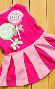 犬用品 ドレス 犬用ウェア 夏 プリンセス キュート カジュアル/普段着 ファッション フクシャ レッド ブルー
