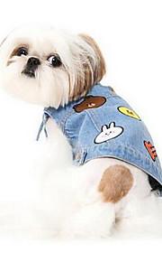 Hundar Väst Hundkläder Sommar Tecknat Gulligt Mode Ledigt/vardag Ljusblå