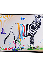 For MacBook Air / Pro / Retina 13 inch Universal Laptop Sleeves Oil Painting Zebra Pattern Canvas Material