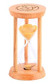 Contagem regressiva de pêndulo de pequena ampulheta 1/3 / 5 minutos tempo mini vidro madeira presente