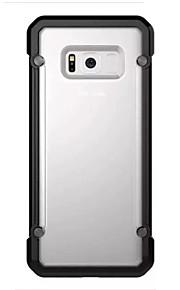 Per la galassia di Samsung samsung s8 più copertura di caso di caso quattro angoli anti-caduta tpu acrilico due-in-one materiale telefono