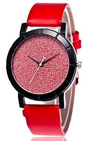 Unisex Fashion Watch Chinese Quartz PU Band Casual Black White Blue Red Pink