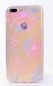 Para iphone 7 mais 7 estojos capa translúcida capa traseira caso dandelion soft tpu para iphone 6s plus 6 5s 5 se