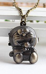 Infantil Unissex Colar com Relógio Quartzo Lega Banda Desenhos Animados Bronze Bronze