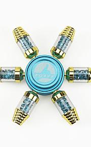 hånd Spinner Leketøy Six Spinner Metall Plast Messing EDC Nyhet Stress og angst relief Ungdom Originale biteleker