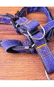 リード 安全用具 しつけ用品 虹色 クロス ダークブルー