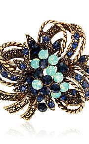 Dame Brocher Mode Vintage Rhinsten Legering Blomstformet Smykker For Bryllup Fest Speciel Lejlighed Daglig