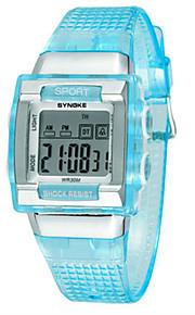 Masculino Relógio de Moda Digital Silicone Banda Preta Branco Azul Verde Rosa
