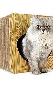 Игрушка для котов Игрушки для животных Трубы и туннели Прочный Когтеточка Бумага Плюш