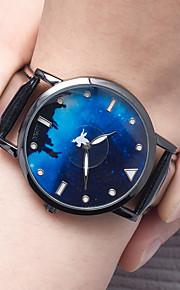 Masculino Relógio de Moda Chinês Quartzo PU Banda Preta Branco Azul Marinho Branco Preto Azul Escuro