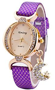 Mulheres Relógio de Moda Relógio de Pulso Único Criativo relógio Relógio Casual Quartzo PU Banda Pendente Legal Casual LuxuosoPreta