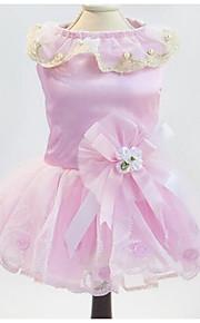 Собаки Платья Одежда для собак Лето Весна/осень Принцесса Милые Мода На каждый день Белый Розовый