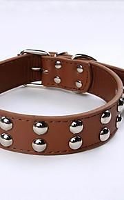 PU Leather Dog Collars Mushroom Rivets Studded Pets Collar for Medium-sized Dogs
