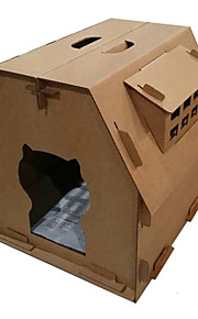 고양이 침대 애완동물 바구니 폴더 브라운