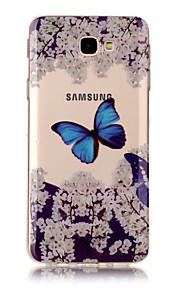 Per la videocamera di Samsung samsung j7 (2017) j5 (2017) tpu materiale imd processo blu modello farfalla modello j3 (2017) j7 primo j3