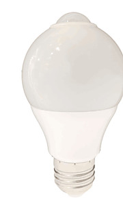5W E26/E27 LED-globepærer SMD 2835 650 lm Hvit Sensor AC220 V 1 stk.