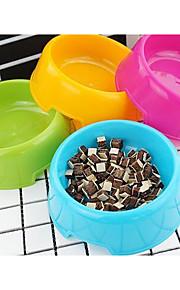 Alimentadores de perros pet bowls&Alimentación de color azul rosado de tres lote
