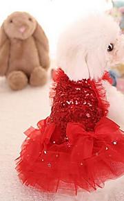 Hunde Kleider Hundekleidung Niedlich Modisch Prinzessin Rot Rosa