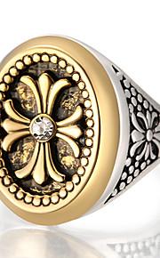 Statement-ringe Ring Unikt design Mode Vintage Personaliseret Euro-Amerikansk luksus smykker Statement-smykker LegeringRund form
