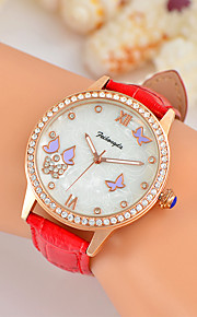 Feihongda Women's Fashion Wrist Unique Creative Watch Casual Quartz Genuine Leather Band Charm Luxury Elegant Cool Watches