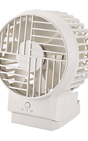 White Mini USB Fan with Adjustable Angles Quiet and Strong