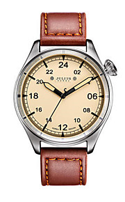 Men's Fashion Watch Japanese Quartz Water Resistant / Water Proof Leather Band Black Brown Grey Yellow