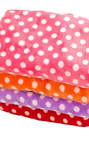 강아지 침대 애완동물 담요 도트무늬 따뜨하게 유지 더블-사이드 소프트 오렌지 퍼플 레드 핑크