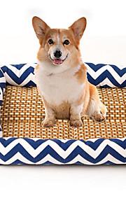 Kat Hond bedden Huisdieren Matten & Pads Gestreept Ademend Zacht Elastisch Duurzaam Oranje Donkerblauw Blauw